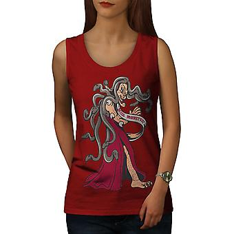 Evil Witch Snakes Women RedTank Top | Wellcoda