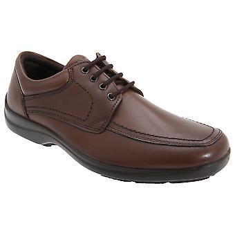 IMAC Mens Mudguard Panel Tie Leather Shoes
