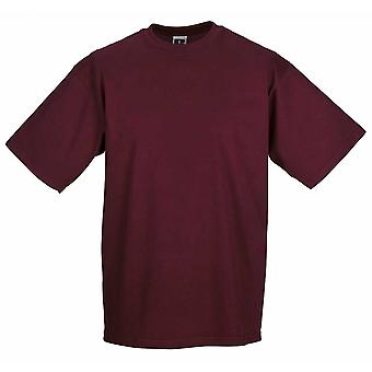 Russell Collection Mens Classic Colours Cotton Short Sleeve Crew Neck T-Shirt