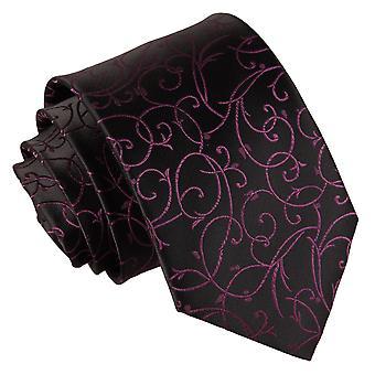 & nero Cravatta classica Purple Swirl