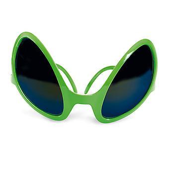 Fremmede briller grønn mannlig fremmed Martian prank tilbehør