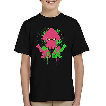 Splatoon Inkling Attack Kid's T-Shirt
