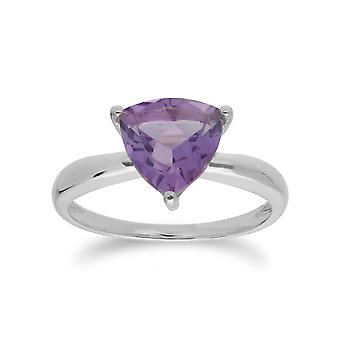 Geometric Trillion Amethyst Triangle Prism Ring in 925 Sterling Silver 253R366303925