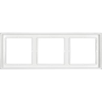Jung 3 x ramme LS 990 Alpine white LS 983 WW