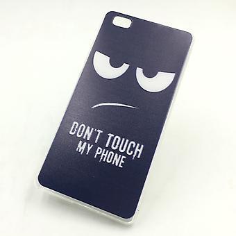 Ne pas toucher mon téléphone mobile case silicone Huawei P8