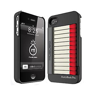5 Pack -Musubo - Match Box Pro Case for Apple iPhone 4/4S - Black