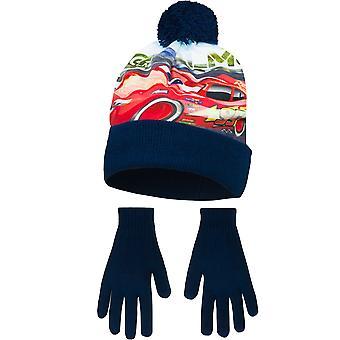 Disney Cars per bambini ragazzi velocità massima inverno cappello e guanti Set