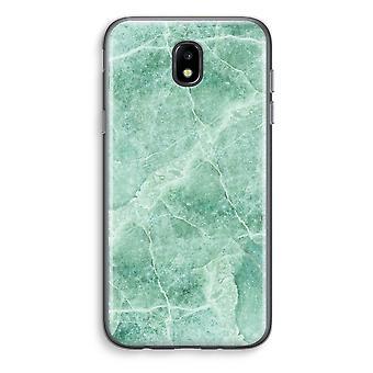 Samsung Galaxy J5 (2017) läpinäkyvä kotelo (pehmeä) - vihreä marmori