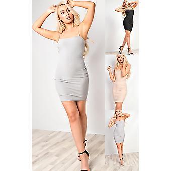 IKRUSH Womens Aby Ribbed Mini Dress