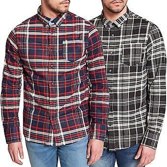 Rohkea sielu miesten kesyttää pitkä hiha Tudor säännöllisesti sopivat napit paidan Top