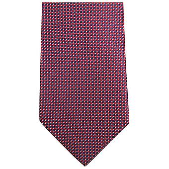 Knightsbridge dassen kleine patroon stropdas - rood/zwart