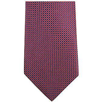Knightsbridge Krawatte kleine Muster Krawatte - rot/schwarz