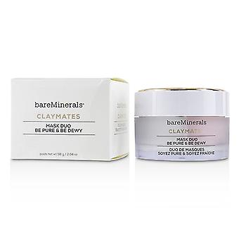 Bareminerals Claymates Be Pure & Be Dewy Mask Duo - 58g/2.04oz