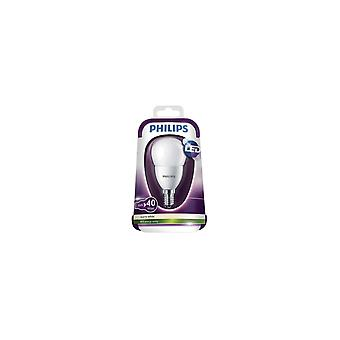 Philips 6W (40W) chute de feu blanc chaud E14 P48 LED