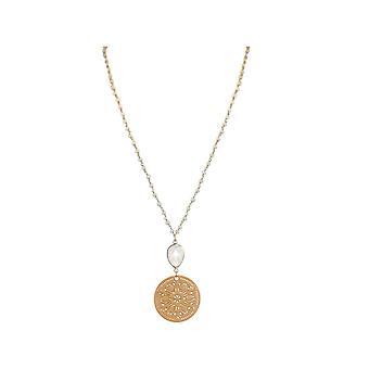 GEMSHINE Halskette Mondstein Traumfänger. 60cm Kette 925 Silber oder vergoldet.