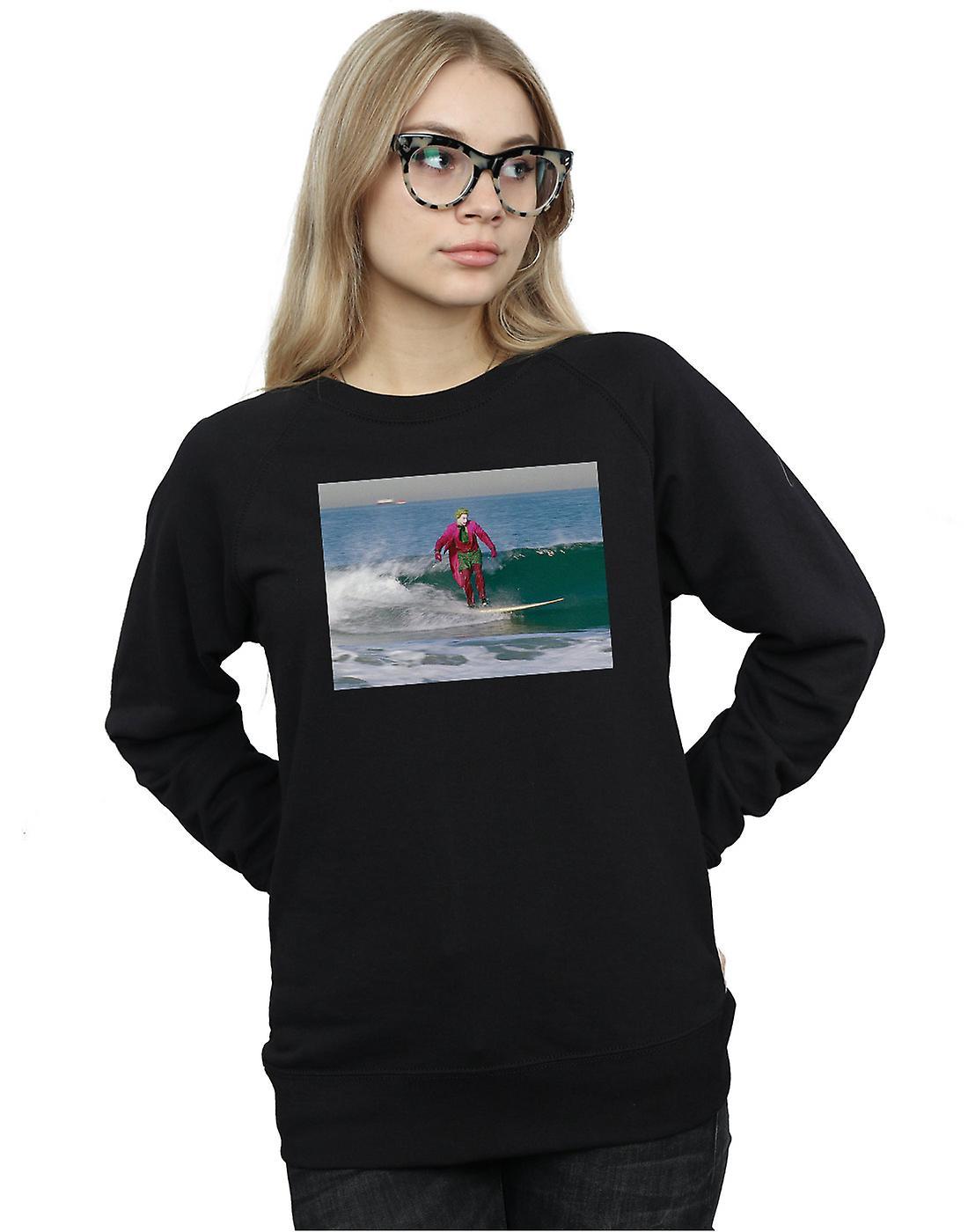 DC Comics Women's Batman TV Series Joker Surfing Sweatshirt