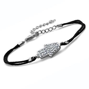Oliver Weber Bracelet Fabric Hand 925Ag Rhodium Crystal