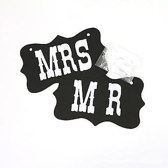 MR AND MRS PROP BLACK CARDS