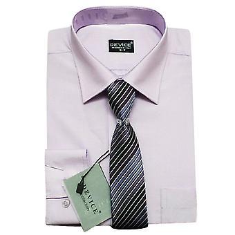 La page garçons lilas formelle chemise et cravate ensemble