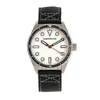 MORPHIC M69 serie Canvas-Band Watch - zilver
