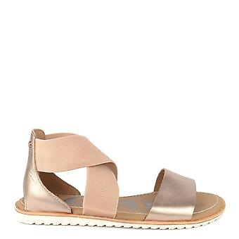 Sorel Ella Warm Gold Flat Sandal