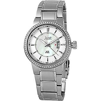 Just Watches 48-S8265B-PL-wristwatch, leather, color: Silver