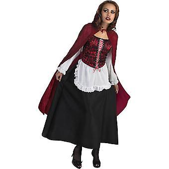Nieuwsgierig Riding Hood volwassen kostuum