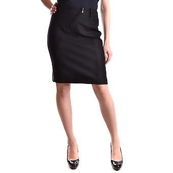 Belstaff Ezbc102003 Women's Black Wool Skirt