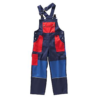 BEB Children's latz pants Premium 35% cotton, red/navy blue, made in EU