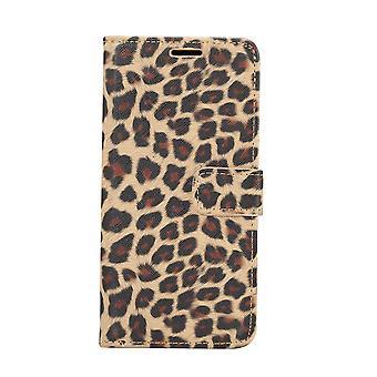 Samsung Galaxy S10e Monedero iPhone caso Leopard-Brown