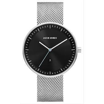 Jacob Jensen Strata Series Watch - Silver/Black