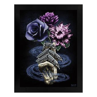 Requiem Collective Death's Bouquet Wooden Framed Print