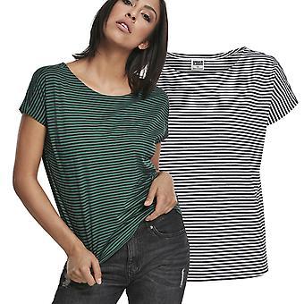 Urban Classics damer-garn färgat baby stripe Top shirt