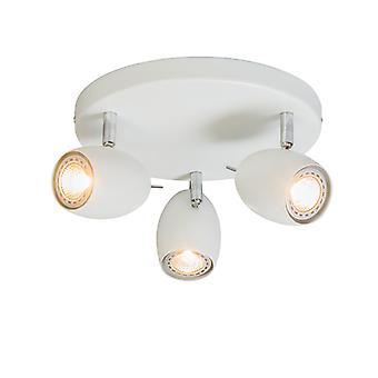 QAZQA Design paikalla valkoinen pyöreä - Muna 3
