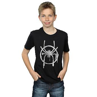 Marvel Boys Spider-Man Into The Spider-Verse Spray Icon T-Shirt