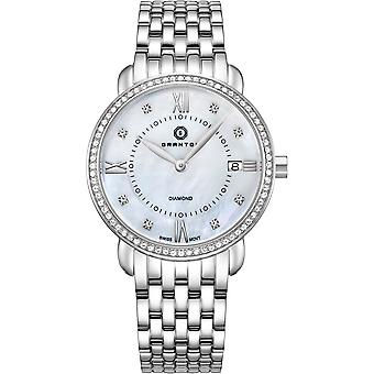 GRANTON - MARQUISE - Women's Watch - White. Silver