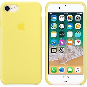 Original Packed Apple Silicone Microfiber Cover Case for iPhone 8/7 - Lemon Yellow (Lemonade)