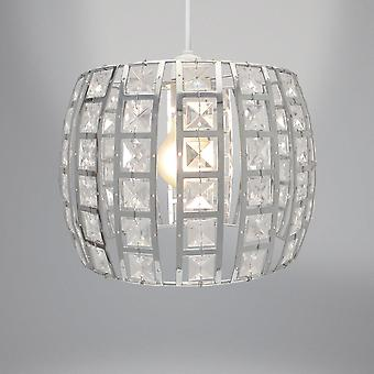 Country Club Opal Light Fitting, Silver 24cm