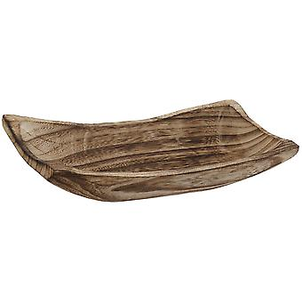 Wellindal Coffee table natural brown paulownia 30x13x6,5 (Decoration , Center pieces)