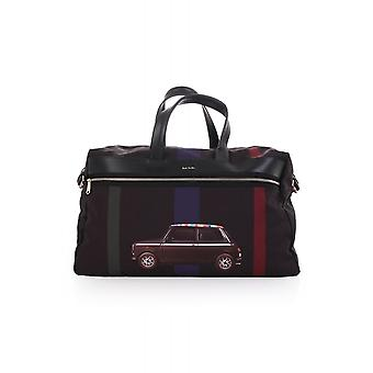 Paul Smith Accessories Mens Holdall With Printed Black Mini