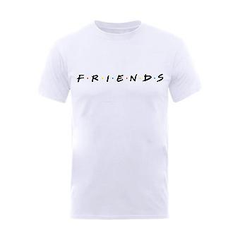 Miesten ystävät Classic logo valkoinen T-paita