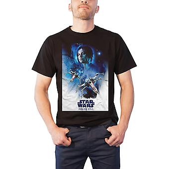 Star Wars T Shirt Rogue One Jyn X-wing 01 neue offizielle Herren Schwarz