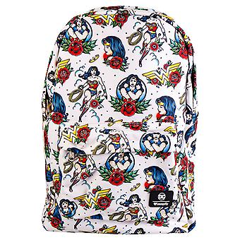 Wonder Woman Tattoo Print Backpack