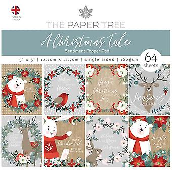 The Paper Tree 5in x 5in Sentiment Topper Pad 160gsm 64 Sheets   A Christmas Tale