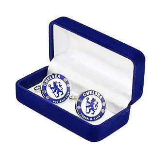 Челси FC Mens официальный металла футбол гребень запонки