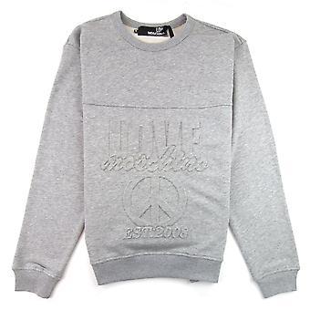 Kjærlighet Moschino preget fred logo Pullover grå