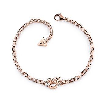 Guess Jewellery Mini Chain Knot Rose Gold Bracelet UBB29020-L