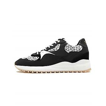 Android Homme  Santa Monica Black & White Leather Sneaker