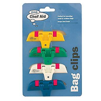 Chef Aid Bag Clips (Pack Of 4)