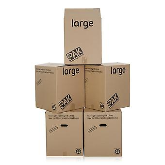 StorePak Pack Of 5 - Large Cardboard Packing Boxes